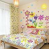 B-Comrade(TM) Flower Wall Stickers for Kids Rooms Home Sticker Nursery D¨¦cor