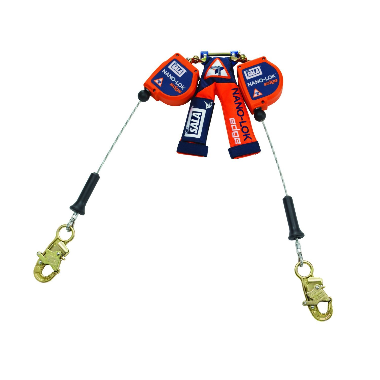 3M DBI-SALA Nano-Lok Edge 3500225 SRL, 8', Double-Leg 100 Percent Tie-Off, Leading/Sharp Edge Snap Hook, Quick Connector for Harness Mount