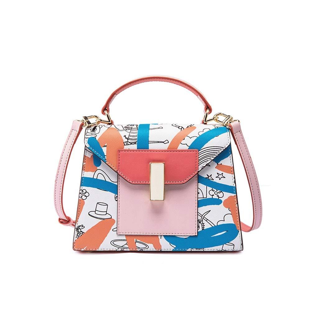 Color : C Small Fresh Casual Cute trapezoidal Shoulder Bag Slant Zipper Buckle Girl Small Square Bag Microfiber 5 Colors Optional //-// DDSS Shoulder Bags