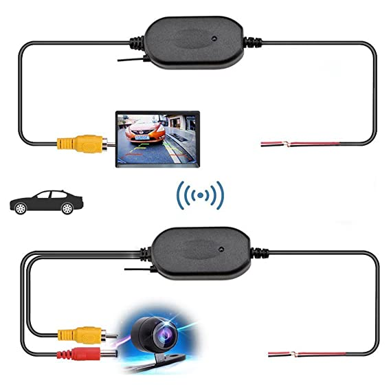 2.4ghz Wireless Rear View Video Transmitter & Receiver For Car Camera Monitor Audio/video Transmitters