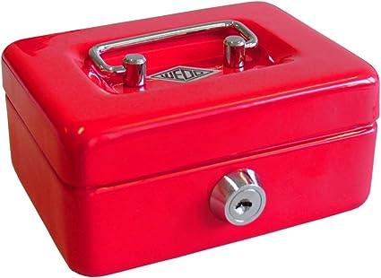 Wedo 144002 - Caja de caudales, hucha infantil, color rojo: Amazon ...