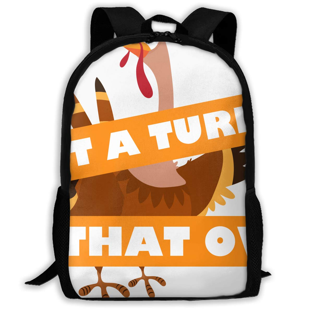 Travel Backpack Laptop Backpack Large Diaper Bag - Funny Thanksgiving I Put A Turkey in That Oven Backpack School Backpack for Women & Men