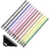 eBoot 12 Pieces Nylon Eyeglass Cord Sunglasses Strap Colorful Eyewear Retainer with 2 Pieces Black Glasses Cloth