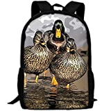 CY-STORE Birds Wild Animal Cute Print Custom Casual School Bag Backpack Travel Daypack Gifts