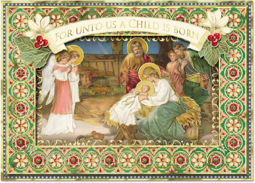 Galleon punch studio christmas dimensional greeting cards virgin galleon punch studio christmas dimensional greeting cards virgin mary and baby jesus in nativity scene with gold foil embellishment set of 12 m4hsunfo