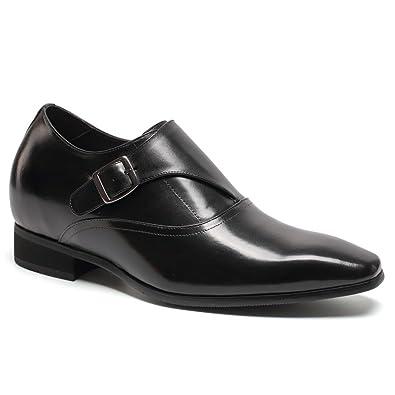 CHAMARIPA Men Elevator Dress Shoes Monk Strap Lift Shoes to Get Taller 7 cm/2.76  inches - H71K40K022D: Amazon.co.uk: Shoes & Bags