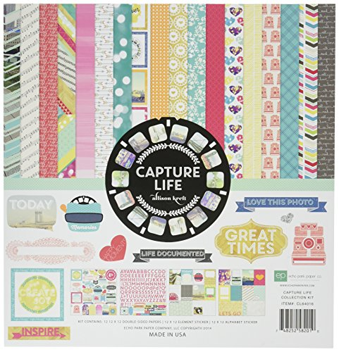 Echo Park Paper Company CL64016 Captured Life Collection Kit for Scrapbooking