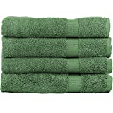 #6: Zachary Collection Elegant Ultra Absorbent Bath Towel Set [4 Pack] (Sage Green)