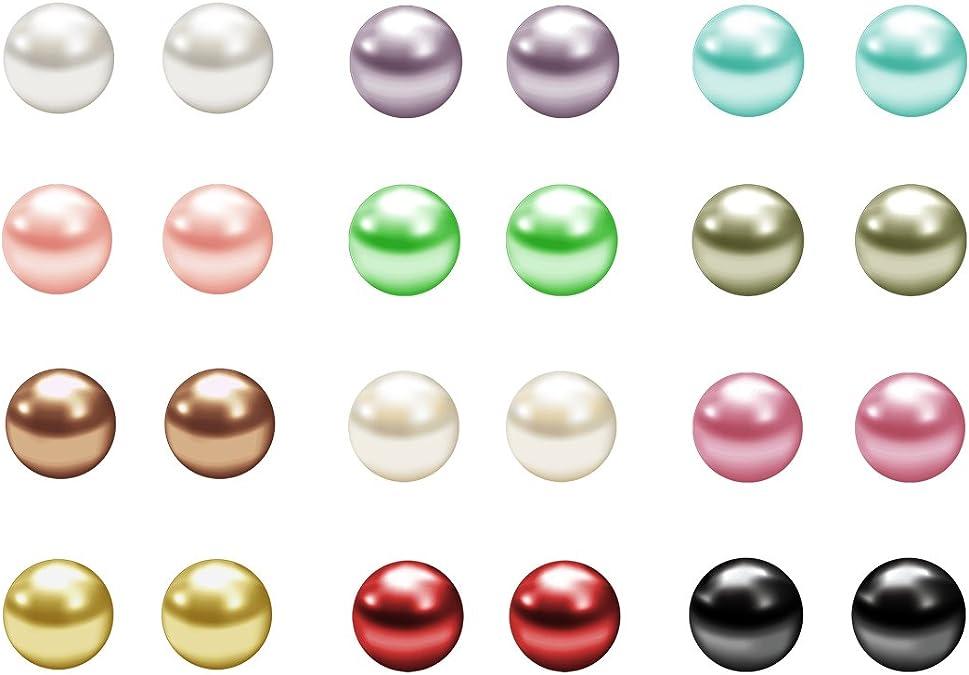 stainless steel and breeding perle.1 pair, earrings Earrings
