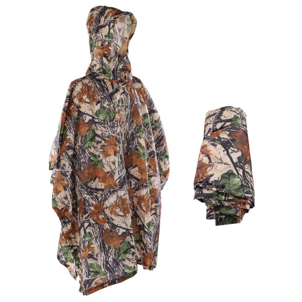 T-best Raincoat Waterproof Rain Poncho Jacket Bicycle Bike Long Poncho Multifunctional Lightweight Camouflage Rain Coat