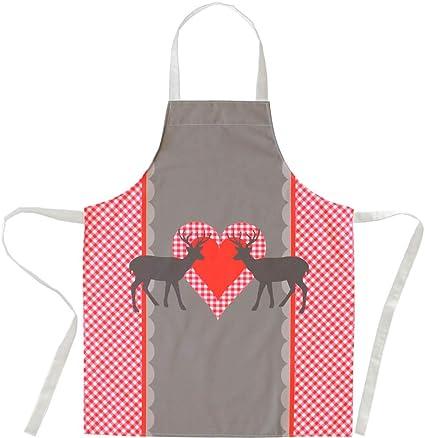 Matches21 Grembiule Da Cucina Con Motivo Cervo Stampa Su Tutta La Superficie 80 X 70 Cm Taglia Unica Amazon It Casa E Cucina