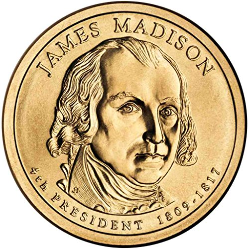 Dollar Presidential 2007 4 Coin (2007 D Madison Presidential Dollar Choice Uncirculated)