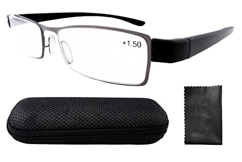 Eyekepper Telaio in acciaio inox Tempio di plastica occhiali da lettura Canna di fucile