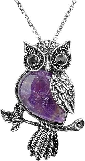 Owl Cystal Necklace