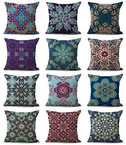Set of 10 Bulk Wholesale Bohemian Mandala Cushion Covers Throw Pillow Cover  Bulk Lots Decorative Bed Pillowcases