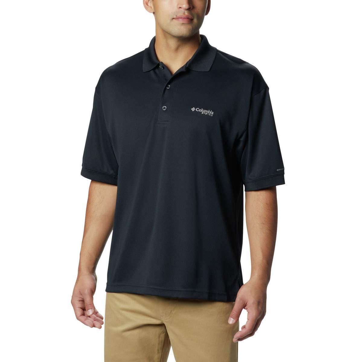Columbia Men's Perfect Cast Polo Shirt, Black, 2X Tall