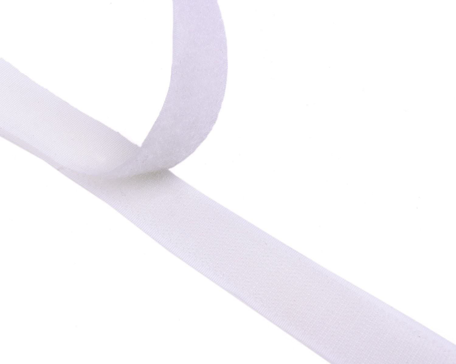 1 Wide 10 Meters Long 10.92Yards Sew On Hook And Loop Strips Set With Non-Adhesive Back Nylon Fabric Fastener Black