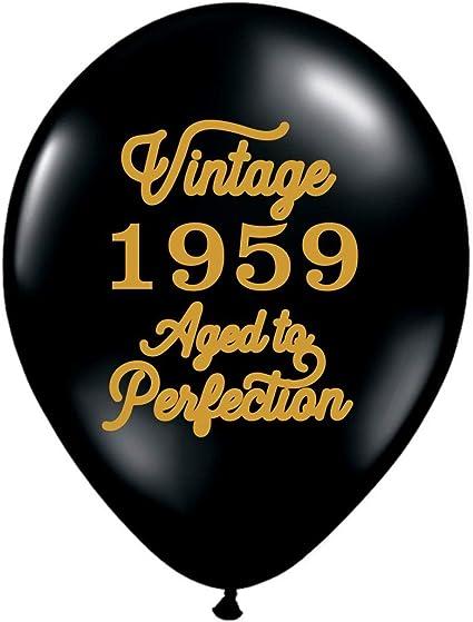 Amazon.com: Globos negros vintage de 1959 – Globos de 60 ...