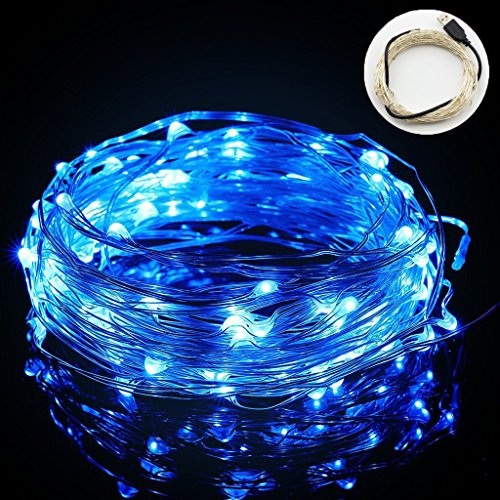 often usb string lights 33ft10m 100leds copper wire starry led string lights silver for christmas wedding party club home indoor outdoor decorating blue