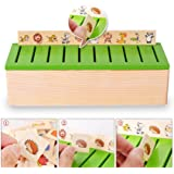 DecentGadget Wooden Classification Box with Cover 80 objects from 8 Categories To Exercise Kids' Hand Eye Coordination Sorting Box And A Good Parent-child Toy