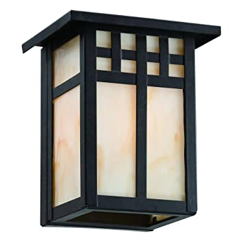 Hampton Bay Coleville Wall-Mount 1-Light Glendale Bronze Outdoor ...