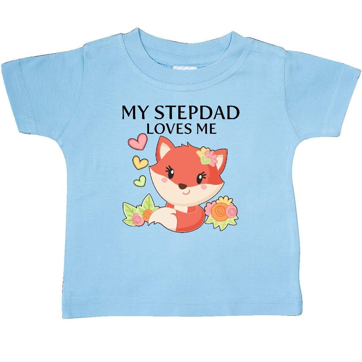 Little Fox Baby T-Shirt inktastic My Stepdad Loves Me