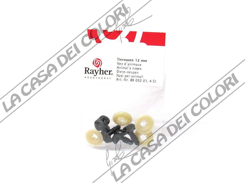 12 mm schwarz Plastik-Tiernasen Beutel 4 Stück zum Stecken