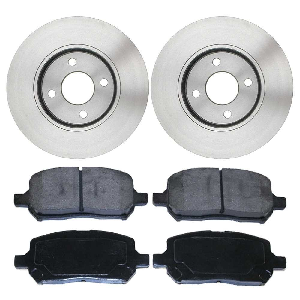 Prime Choice Auto Parts RSMK65085-65085-956-2-4 Set of Front Disc Rotors and Metallic Brake Pads