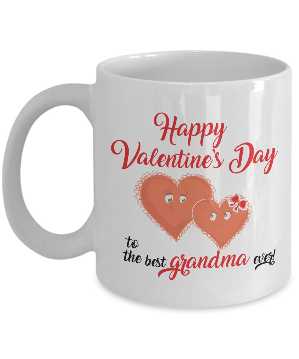 Amazon Com Valentine Day Gifts Best Grandma Ever Ceramic Cup Valentines Day Mugs Kitchen Dining