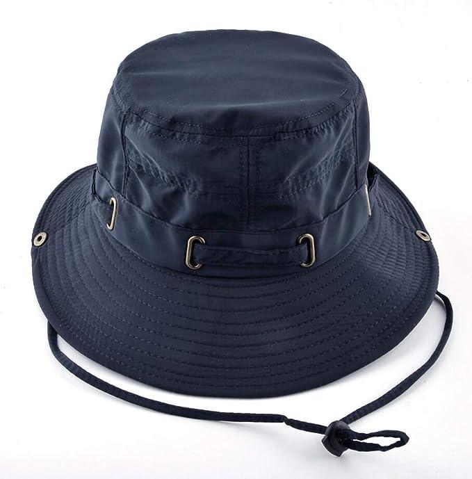 27ba339f Beach Hats for Men Bob Woman Summer Bucket Outdoors Casual Hiking Fishing  Caps Men's UV Protection