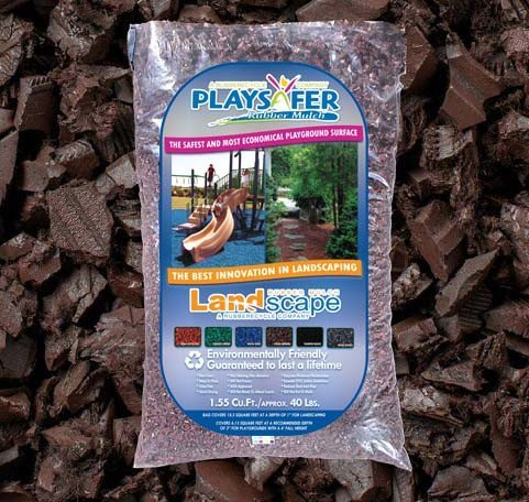 Rubber Mulch For Landscapes Brown 50-40 lb ()