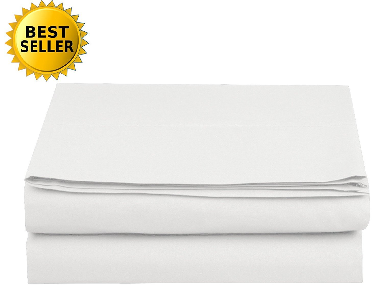 Luxury Fitted Sheet on Amazon Elegant Comfort Wrinkle-Free 1500 Thread Count Egyptian Quality 1-Piece Fitted Sheet, King Size, White by Elegant Comfort