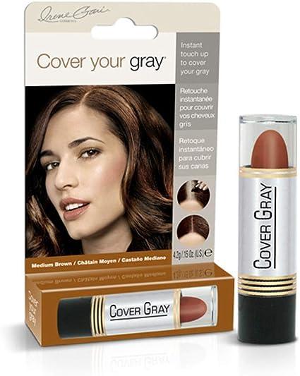 Cover Your Gray for Women Medium Brown Corrector de canas, color castaño medio