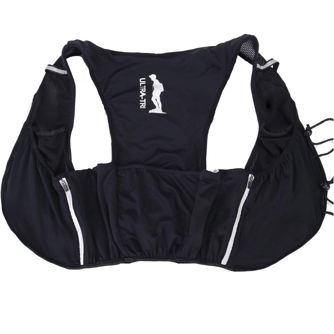 ultra-tri Lightweight RunningベストバックパックTrail RunアウトドアスポーツトレーニングRacingウォーターボトル水和膀胱バッグパック B078MLJSRK  Size M Backpack + 2 Soft Flasks
