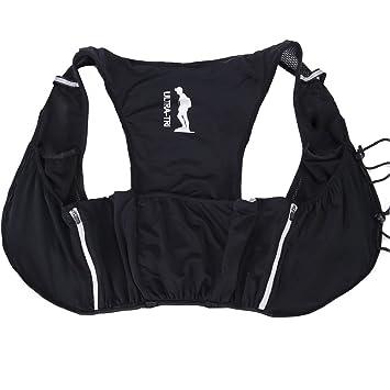 ultra-tri ligero chaleco de running mochila Trail Run deportes al aire libre formación Racing botella de agua hidratación vejiga bolsa Pack 9L: Amazon.es: ...