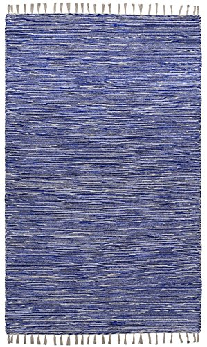 Complex Chenille Flat Weave Rug, 8-Feet by 10-Feet, Blue