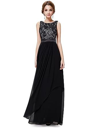 Lampang Elegant Sleeveless Lace Evening Party Dress Blue S