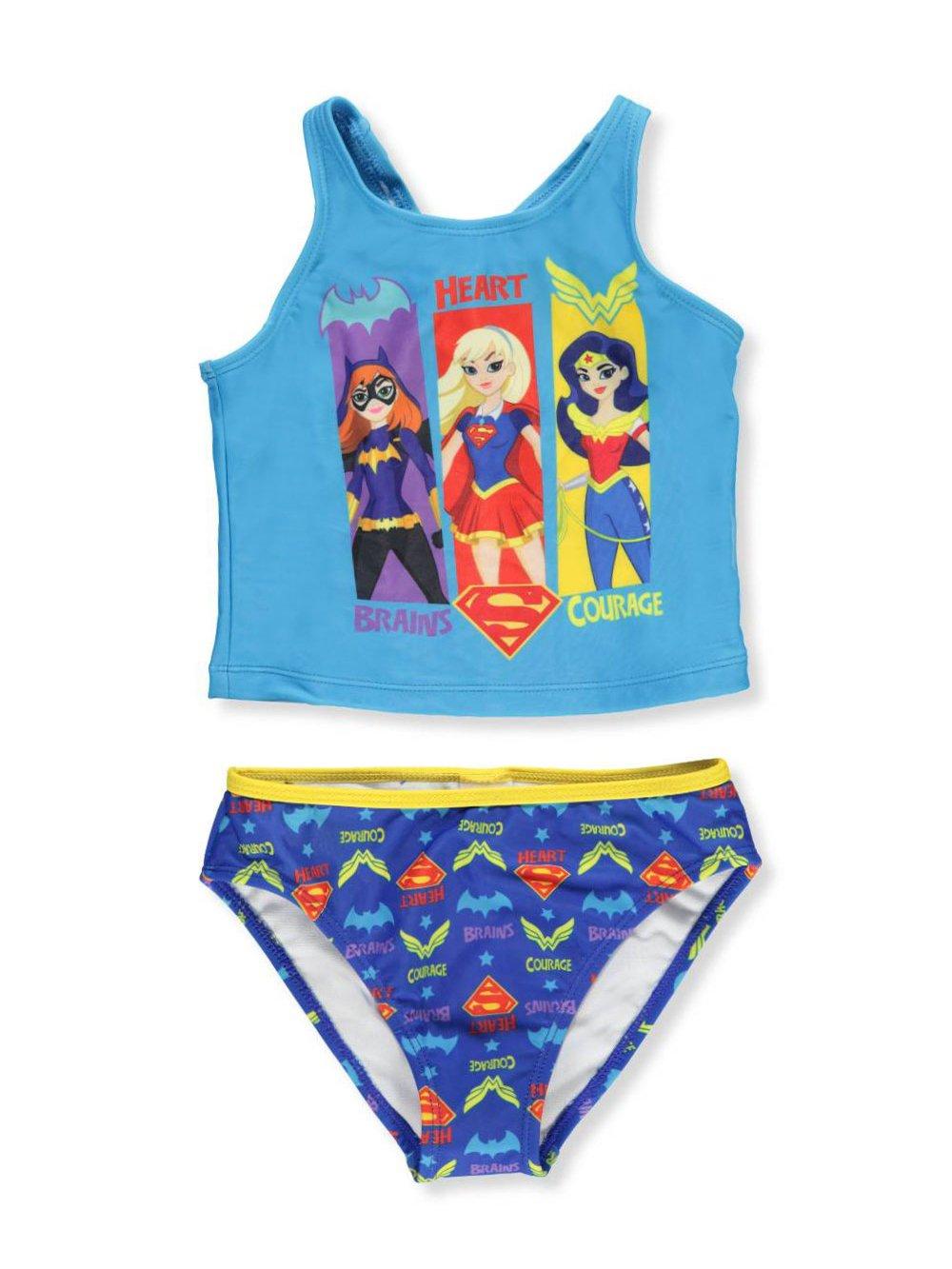 DC Superhero Girls Girls' 2-Piece Tankini
