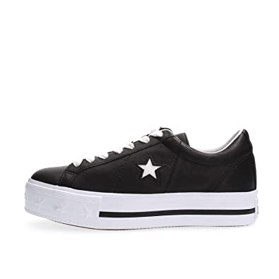 d242fd92bf6 Converse Shoes Woman Low Platform Sneakers 562734C ONE Star Platform OX  Size 35 Black
