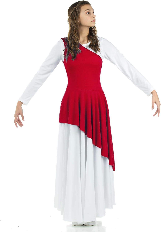 Danzcue Women's Asymmetrical Praise Dance Tunic: Clothing
