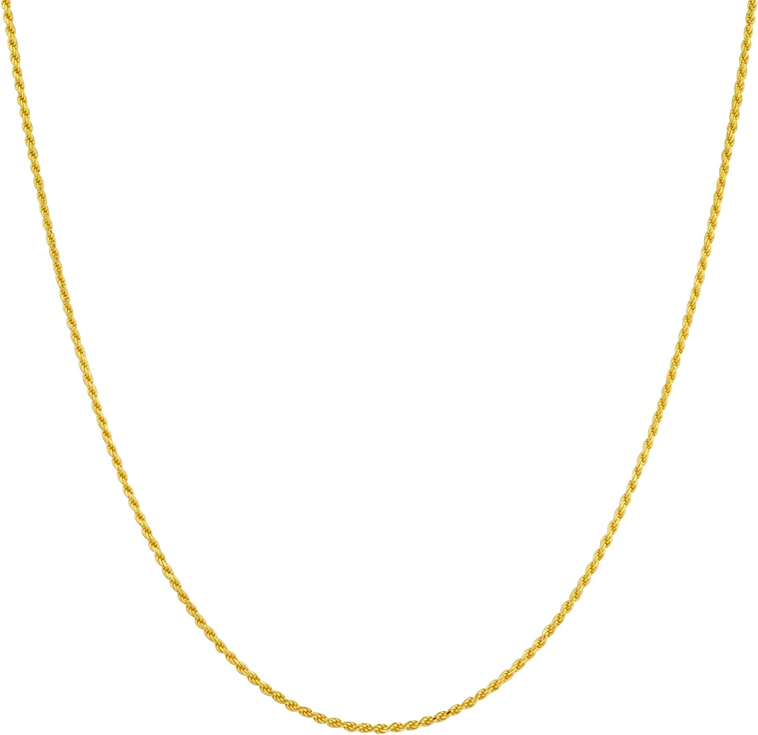 14k Gold Over 925 Sterling Silver Italian BOX CHAIN necklace 0.7mm