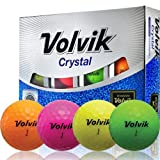 Volvik Crystal 3-piece Golf Balls - Pack of 12, Assorted Colors