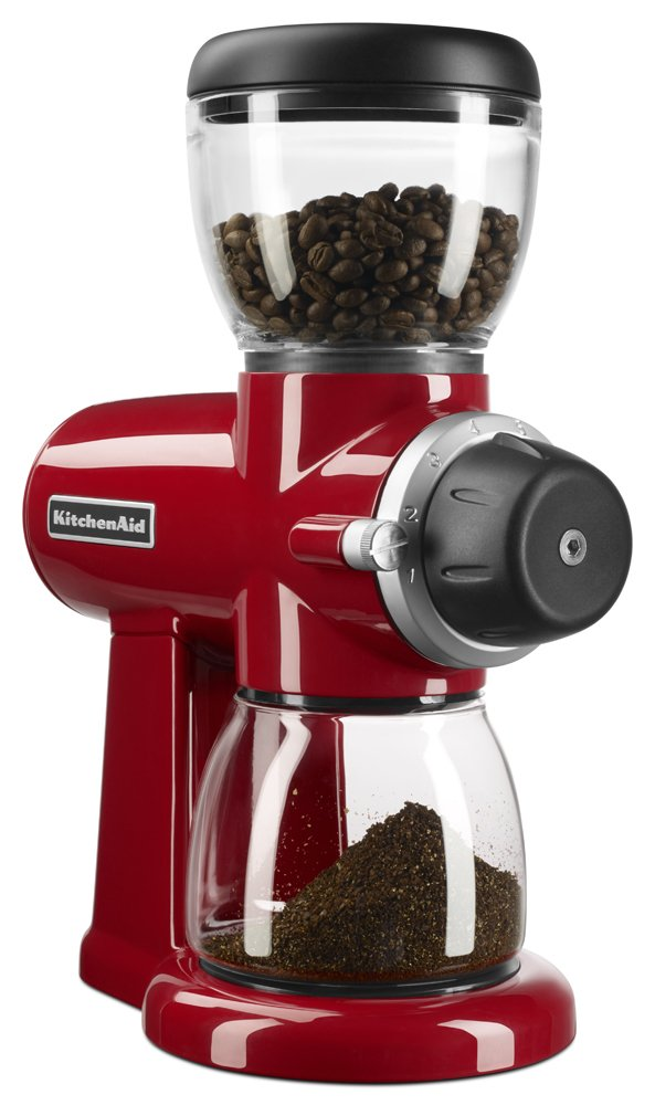 KitchenAid KCG0702ER Burr Coffee Grinder, Empire Red by KitchenAid