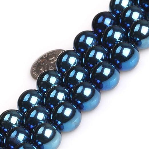 Pcs Gemstones Jewellery Making Non Magnetic Round Beads 12mm Grey 30 Hematite