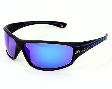 Montana gafas de sol SP 309 B Plástico Mate Negro Gris ...