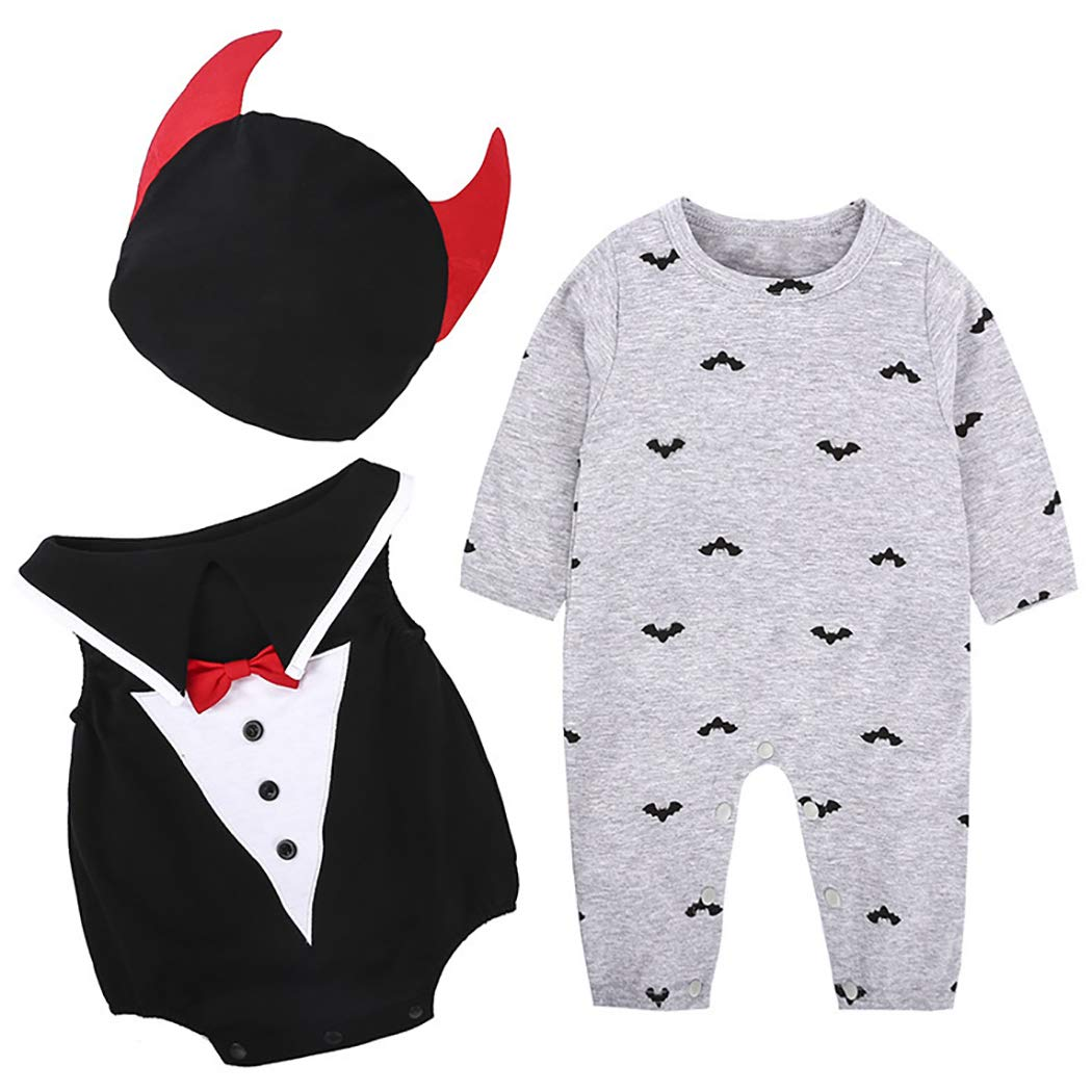 3PCS Baby Halloween Costume Set Fashion Bat Cosplay Party Costume Baby Costume by Kapmore