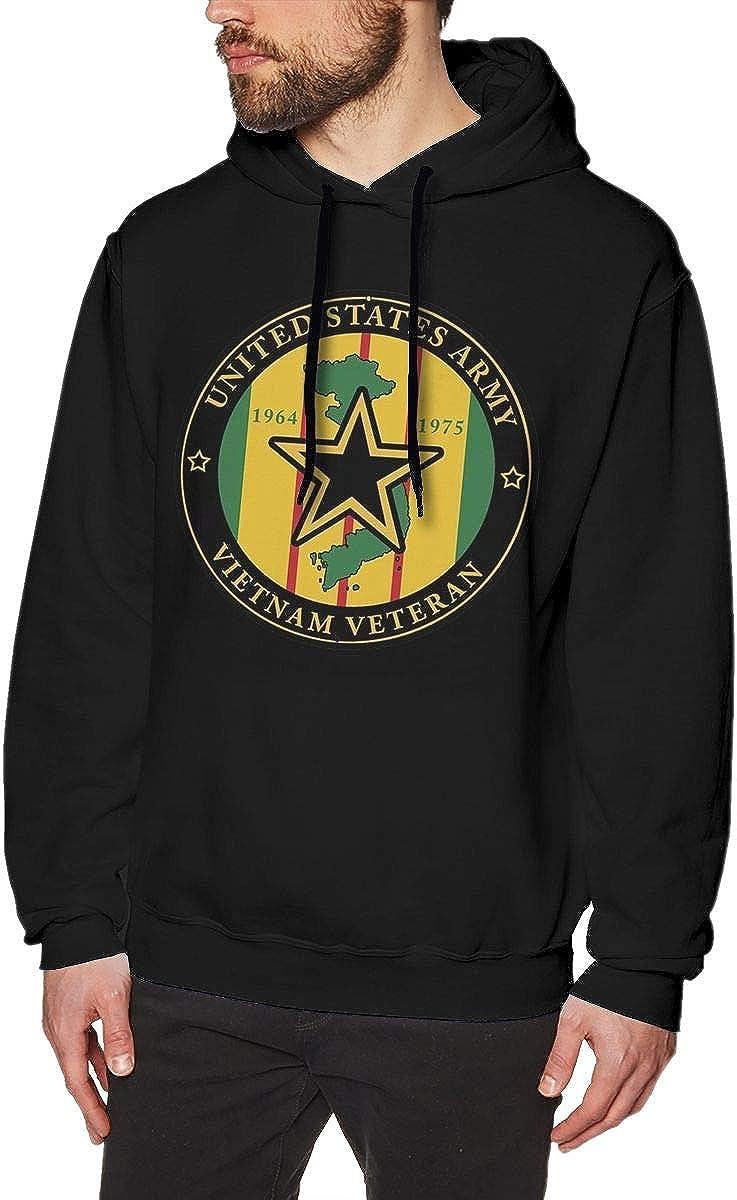 HONGHUOmao US Army Vietnam Veteran Mens Fashion Pullover Casual Hoodie Hooded Sweatshirt with Pocket