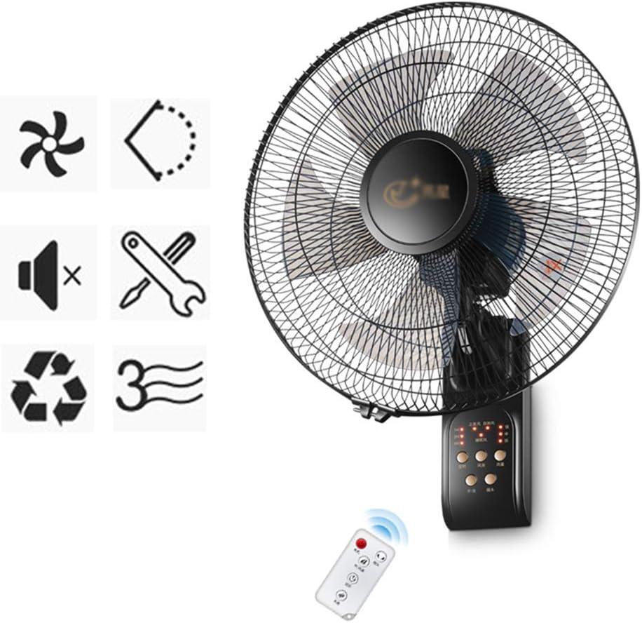 FUDIV Ventilador Genial Ventilador de Pared,Control Remoto | Temporizador | SD-79C0 17 Pulgadas | Negro | Silencioso | 50W | Reducción de Ruido | Suministro de Aire de Gran Angular