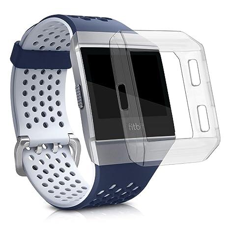 kwmobile Funda Protectora para Reloj Fitbit Ionic - Protector para Pulsera de Actividad en [Transparente]
