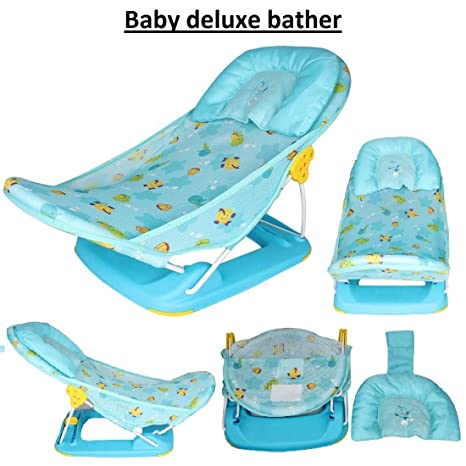 Buy Favy Deluxe Baby Bather Deluxe Baby Folding Bather Cushion Infant Bath Tubs Baby Gift Set Bath Seat For Newborn Babies Online At Low Prices In India Amazon In